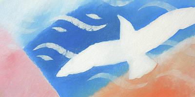 Painting - White Wings by Lutz Baar