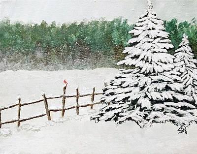 Painting - White Winter by Sheri Doyon