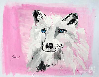 Wild Painting - White Wolf - Animal Art By Valentina Miletic by Valentina Miletic