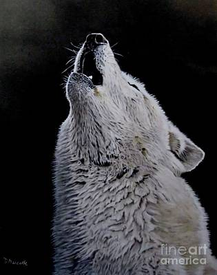 Painting - Timber Wolf by Diane Marcotte