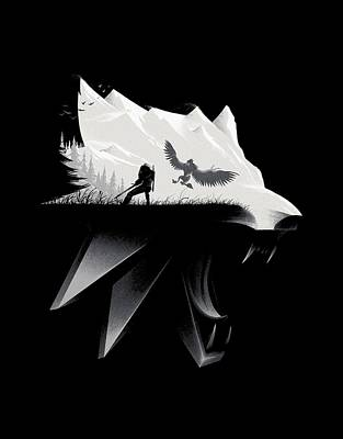 Mass Effect Digital Art - White Wolf - Minimalist by Lobito Caulimon