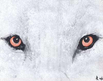 Wolve Painting - White Wolve by George Robert Allen