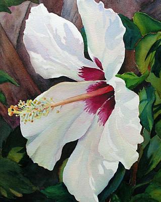 White Wonder Print by Judy Mercer