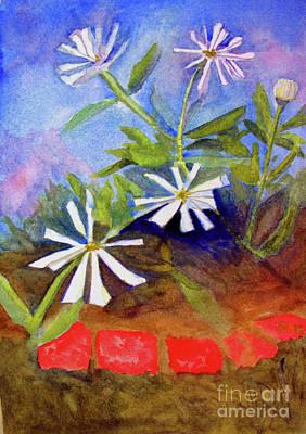 Painting - White Zinnias by Sandy McIntire