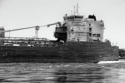 Photograph - Whitefish Bay Detail Bw by Mary Bedy
