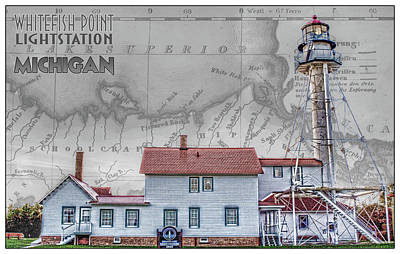 Photograph - Whitefish Point Lightstation by Debby Richards