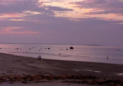 Whitehorse Beach - Sunset Art Print by Nancy Ferrier