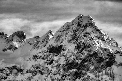 Photograph - Whitehorse Black And White by Charlie Duncan
