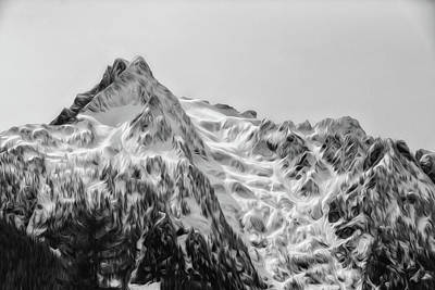 Photograph - Whitehorse Mountain, Digital Oil Paint by Charlie Duncan
