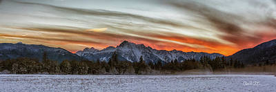 Whitehorse Sunset Panorama Art Print