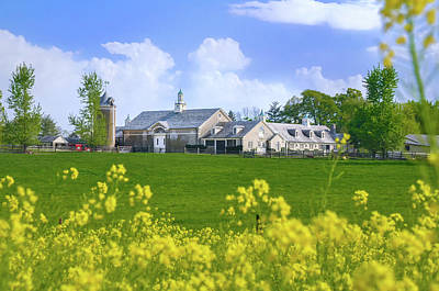 Whitemarsh Pa - Erdenheim Farms In The Spring Art Print by Bill Cannon