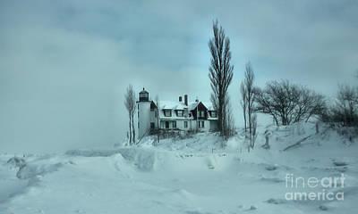 Photograph - Whiteout At Point Betsie by Matthew Winn