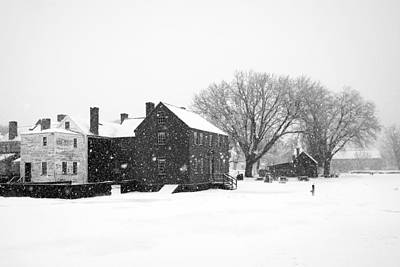 Whiteout At Strawbery Banke Art Print