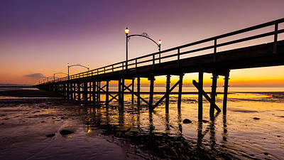 Photograph - White Rock Pier At Sunset by Pierre Leclerc Photography