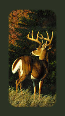 White-tailed Buck Painting - Whitetail Buck Phone Case by Crista Forest