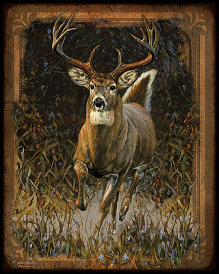 Running Painting - Whitetail Deer by JQ Licensing