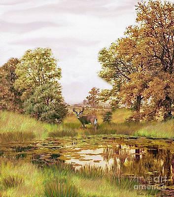 Digital Art - Whitetail Deer by Walter Colvin