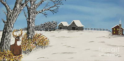 Painting -  Whitetail  Lookout by Jeffrey Koss