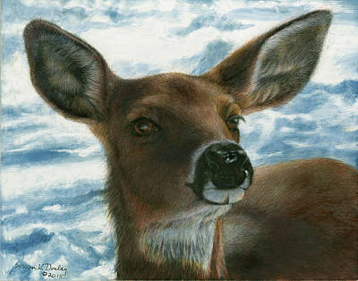 Painting - Whitetail Sniffing The Air by Susan Donley