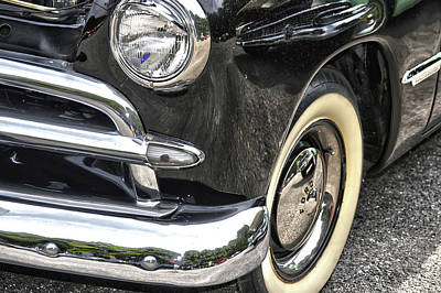 Mixed Media - Whitewall 1949 V-8 Ford by Lesa Fine