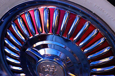 Hubcap Wall Art - Photograph - Whitewall Roulette by Richard Henne