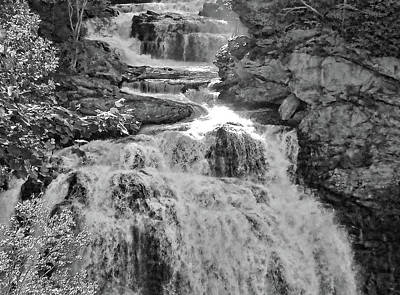 Photograph - Whitewater - Black And White by HH Photography of Florida