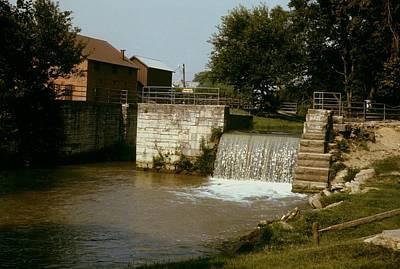 Photograph - Whitewater Canal Locks Metamora Indiana by Gary Wonning
