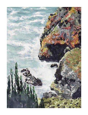 Painting - Whitewater Coast by Dick Dee