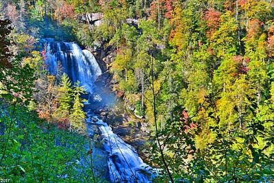 Photograph - Whitewater Falls North Carolina by Lisa Wooten