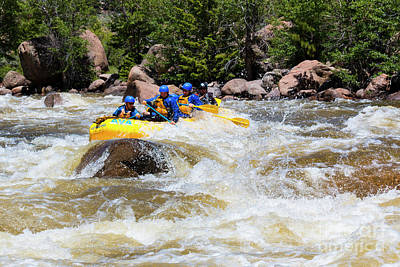 Steven Krull Royalty-Free and Rights-Managed Images - Whitewater Rafting the Arkansas River by Steven Krull
