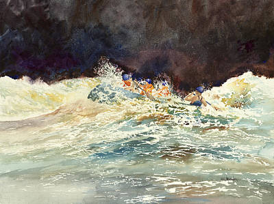 Painting - Whitewater Raftingon The Menominee by Ken Marsden