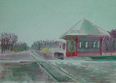 Whitewater Rail Station Art Print