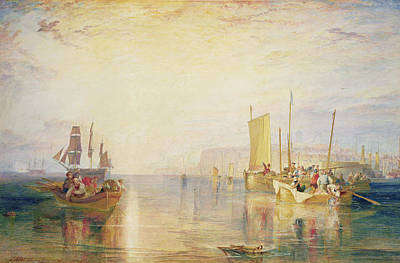 On Paper Painting - Whiting Fishing Off Margate by Joseph Mallord William Turner