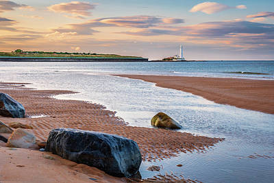 Achieving Royalty Free Images - Whitley Bay Beach looking north Royalty-Free Image by David Head
