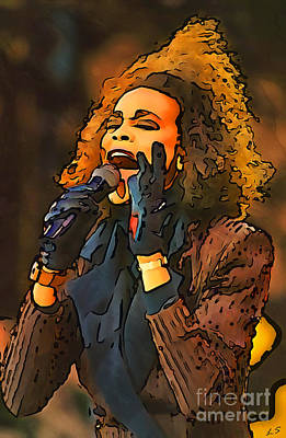 Digital Art - Whitney Houston Collection - 1 by Sergey Lukashin
