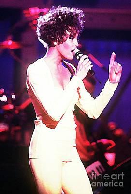 Hbo Digital Art - Whitney In Concert by John Malone