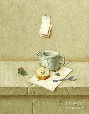 Whitr Still Life Art Print