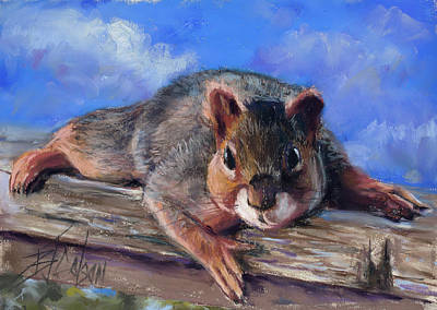 Pastel - Who Are You Calling Squirrely  by Billie Colson