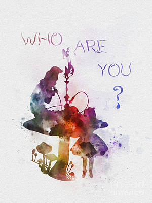 Mixed Media - Who Are You by Rebecca Jenkins