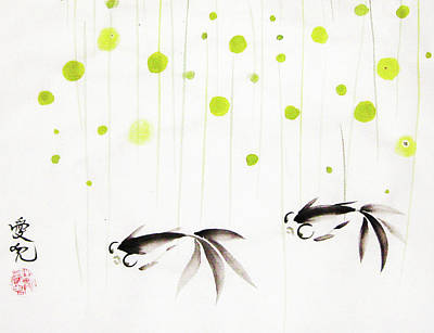 Sumi Painting - Who Cares About The Storm Above by Oiyee At Oystudio