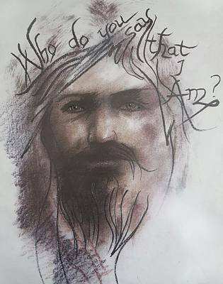 Yeshua Drawing - Who Do You Say That I Am? by Lee Vincent