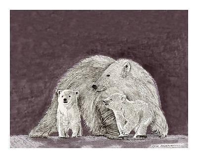 Polar Bear Family Original by Jack Pumphrey