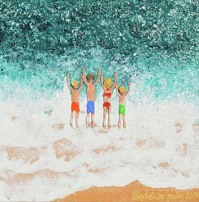 Painting - Who Is First by Elizabeth Langreiter