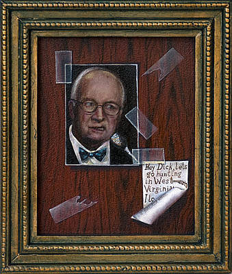 Dick Cheney Wall Art - Painting - Who Is He by John Balasa