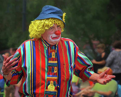 Photograph - Who Knows - Clown - Parade by Nikolyn McDonald