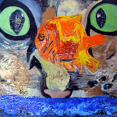 Painting - Who Let The Cat Out by Artista Elisabet