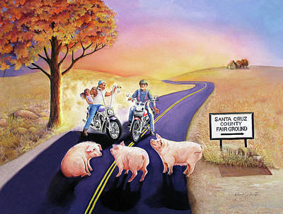 Painting - Who Let The Hogs Out by Beverly Martin