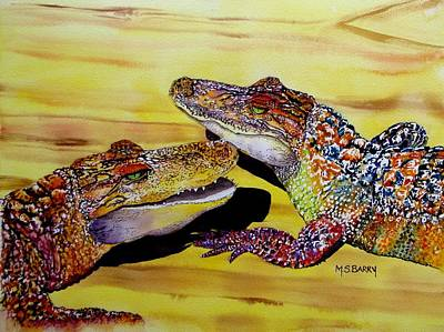 Gators Painting - Who Loves Ya Baby by Maria Barry