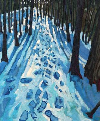 Painting - Who Made These Tracks by Phil Chadwick