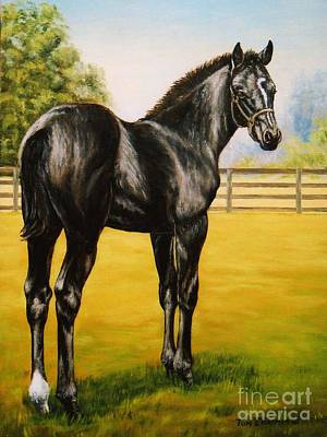 Kentucky Painting - Who Me by Tom Chapman